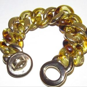 Vintage Faux Tortoise Enamel Bracelet